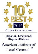 Clinton Middleton - 10 best 2016 in client satisfaction